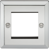 Knightsbridge 2G Modular Faceplate - Bevelled Edge Polished Chrome