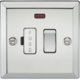 Knightsbridge 13A Switched Fused Spur Unit With Neon - Bevelled Edge Polished Chrome