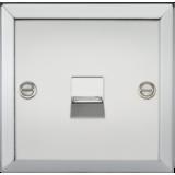 Knightsbridge Telephone Extension Outlet - Bevelled Edge Polished Chrome