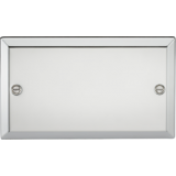 Knightsbridge 2G Blanking Plate - Bevelled Edge Polished Chrome