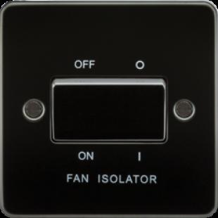 Knightsbridge Flat Plate 10A 3 Pole Fan Isolator Switch - Gunmetal