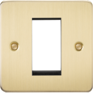 Flat Plate 1G Modular Faceplate - Brushed Brass