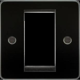 Flat Plate 1G Modular Faceplate - Gunmetal