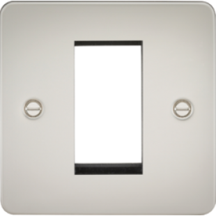 Flat Plate 1G Modular Faceplate - Pearl
