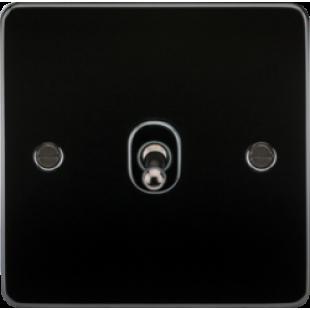 Knightsbridge Flat Plate 10A 1G 2 Way Toggle Switch - Gunmetal