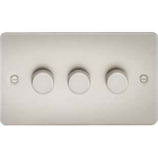 Flat Plate 3G 2 Way 40-400W Dimmer - Pearl