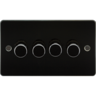 Flat Plate 4G 2 Way 40-400W Dimmer - Gunmetal