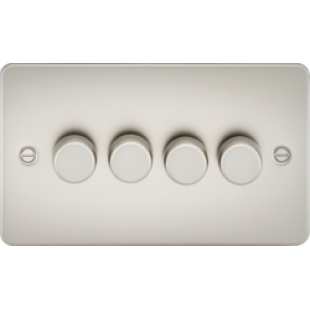 Flat Plate 4G 2 Way 40-400W Dimmer - Pearl