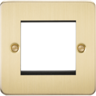 Flat Plate 2G Modular Faceplate - Brushed Brass