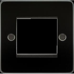 Flat Plate 2G Modular Faceplate - Gunmetal