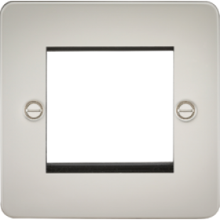 Flat Plate 2G Modular Faceplate - Pearl