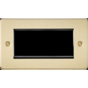 Flat Plate 4G Modular Faceplate - Brushed Brass