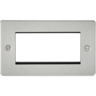 Flat Plate 4G Modular Faceplate - Brushed Chrome