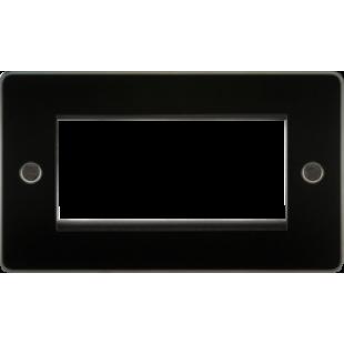 Flat Plate 4G Modular Faceplate - Gunmetal