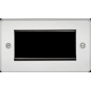 Flat Plate 4G Modular Faceplate - Polished Chrome