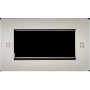 Flat Plate 4G Modular Faceplate - Pearl