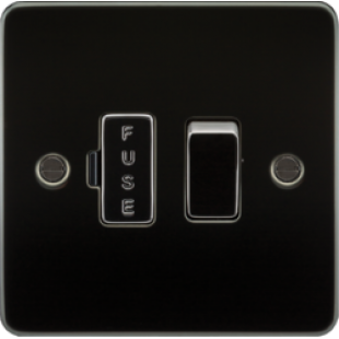 Flat Plate 13A Switched Fused Spur Unit - Gunmetal