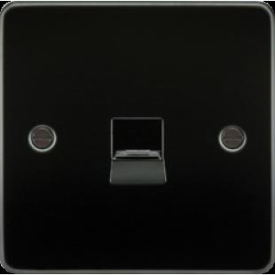 Flat Plate Telephone Master Socket - Gunmetal