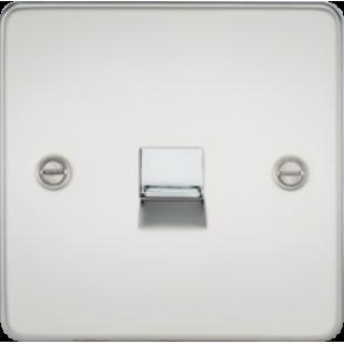 Flat Plate Telephone Master Socket - Polished Chrome