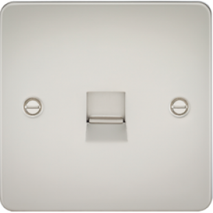 Flat Plate Telephone Master Socket - Pearl