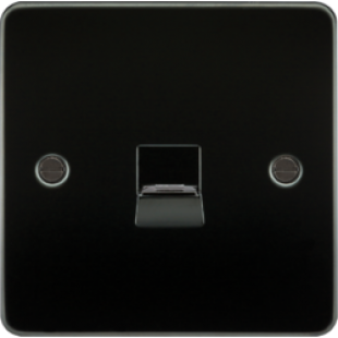 Flat Plate Telephone Extension Socket - Gunmetal