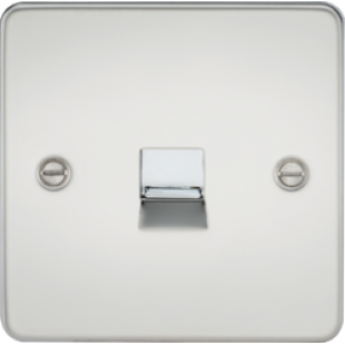 Flat Plate Telephone Extension Socket - Polished Chrome