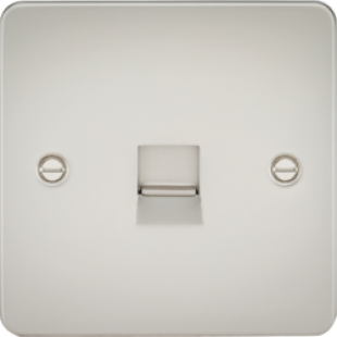 Flat Plate Telephone Extension Socket - Pearl