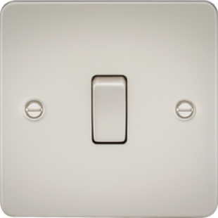 Flat Plate 20A 1G DP Switch - Pearl