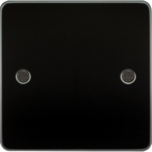 Flat Plate 1G Blanking Plate - Gunmetal