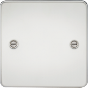 Flat Plate 1G Blanking Plate - Polished Chrome