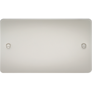 Flat Plate 2G Blanking Plate - Pearl