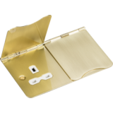 Knightsbridge 13A 2G Unswitched Floor Socket Brushed Brass With White Insert