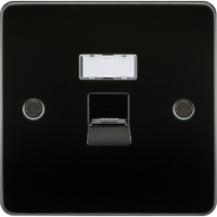 Flat Plate RJ45 Network Outlet - Gunmetal