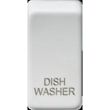 "Knightsbridge Switch Cover ""Marked DISHWASHER"" - Matt White"