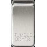 """Knightsbridge Switch Cover """"Marked TUMBLE DRYER"""" - Brushed Chrome"""
