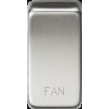 "Knightsbridge Switch Cover ""Marked FAN"" - Brushed Chrome"