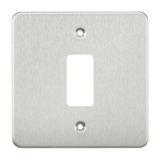 Flat Plate 1G Grid Faceplate - Brushed Chrome