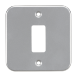 Knightsbridge Metalclad 1G Grid Faceplate
