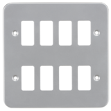 Knightsbridge Metalclad 8G Grid Faceplate