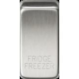 """Knightsbridge Switch Cover """"Marked FRIDGE/FREEZER"""" - Brushed Chrome"""