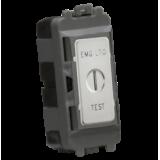 """Knightsbridge 20AX 2 Way SP Key Module (Marked """"EMG LTG TEST"""") - Brushed Chrome"""