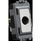 Knightsbridge Flex Outlet Module (Up To 10mm) - Polished Chrome