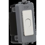 Knightsbridge 1G 2 Way 10-200W (10-100W LED) Trailing Edge Dimmer (Press Type) - Brushed Chrome
