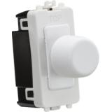 Knightsbridge 1G 2 Way 10-200W (10-100W LED) Trailing Edge Dimmer Module - Matt White