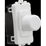 Knightsbridge 10-200W Push On/Off Trailing Edge Dimmer Module - White