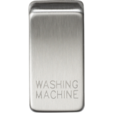 """Knightsbridge Switch Cover """"Marked WASHING MACHINE"""" - Brushed Chrome"""
