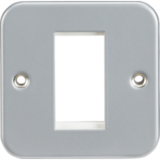 Knightsbridge Metal Clad 1G Modular Faceplate
