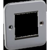 Knightsbridge Metal Clad 2G Modular Faceplate