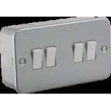 Knightsbridge Metal Clad 10A 4G 2 Way Switch