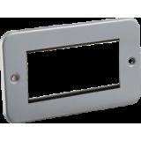 Knightsbridge Metal Clad 4G Modular Faceplate